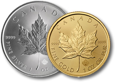 Silver Maple and Gold Maple coins